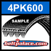 4PK600 Automotive Serpentine (Micro-V) Belt