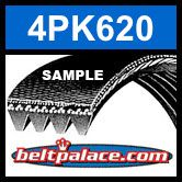 BANDO 4PK620 Automotive Serpentine Belt