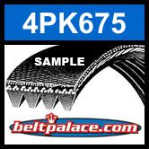 4PK675 Automotive Serpentine Belt