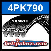 4PK790 Automotive Serpentine (Micro-V) Belt