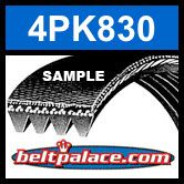 4PK830 Automotive Serpentine (Micro-V) Belt