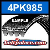 4PK985 Automotive Serpentine (Micro-V) Belt