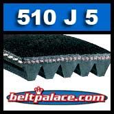 510J5 Poly-V Belt, Metric 5-PJ1295 Motor Belt.