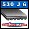 530J6 Poly-V Belt, Metric 6-PJ1346 Belt
