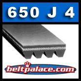 650J4 Poly-V Belt (Micro-V). Metric 4-PJ1651 Motor Belt