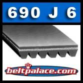690J6 Poly V Belt. 6-PJ1753 Metric Poly V.