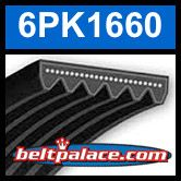 6PK1660 Automotive Serpentine (Micro-V) Belt