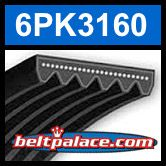 6PK3160 Automotive Serpentine (Micro-V) Belt