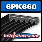 BANDO 6PK660 AUTOMOTIVE Micro-V Belt