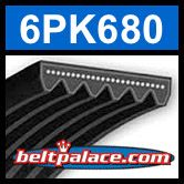 6PK680 Automotive Serpentine (Micro-V) Belt