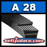 A28 V-Belt (Raw Edge). Replaces 4L300 FHP V-Belts.