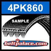 4PK860 Automotive Serpentine Belt