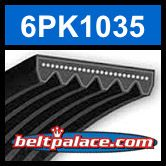 6PK1035 Automotive Serpentine Belt