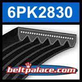 6PK2830 Automotive Serpentine (Micro-V) Belt
