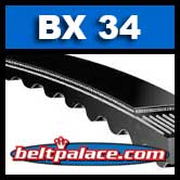 BX34. Molded Notch BX-34 V-BELT