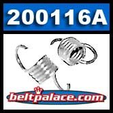 """Comet 200116A White Clutch Springs. Pack of 2. Standard """"White"""" springs for 350 Series Clutch. 1100/1300 engagement."""