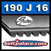 190J16 GATES MICRO-V BELT. Metric 16-PJ483 Motor Belt.