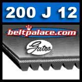 Gates 200J12 Micro-V Belt. Metric 12-PJ508 Motor Belt.