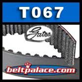 Gates T067 Automotive timing belt (Ford). Goodyear 40067. Dayco 95067.