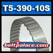 T5-390-10-S Metric Timing belt. Polyurethane, Steel Cord