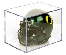 Ball Qube Mini Helmet UV Protected / Football Display Case - Case of 8