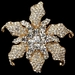* Antique Rhinestone Flower Bridal Brooch 181 Silver or Gold
