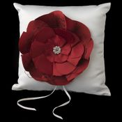 Red Flower Ring Pillow 804