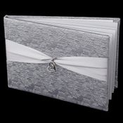 Silver Ribbon & Silver Heart Guest Book 722
