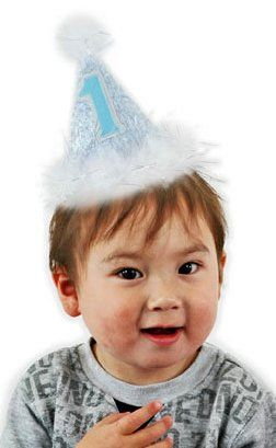 1st Birthday Blue Cone Hat