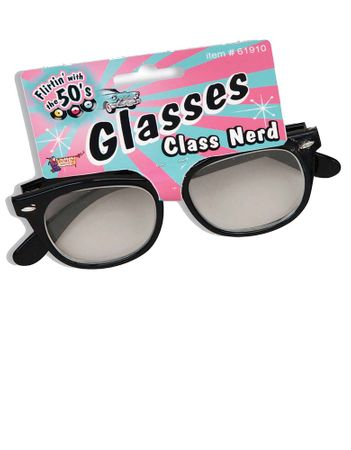 50's Class Nerd Clear Lens Glasses