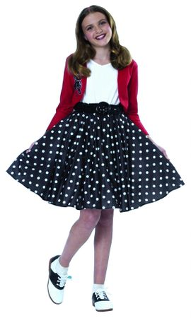 50's Girls' Polka Dot Rocker Costume