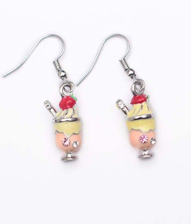 50's Ice Cream Sundae Earrings