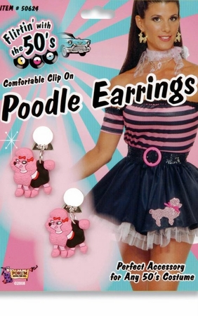 50s Poodle Earrings