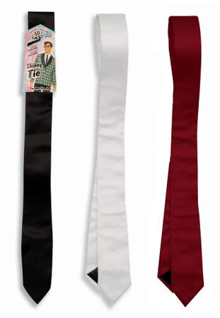 50s Skinny Tie - White or Black