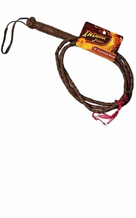 6' Leather Whip - Brown or Black
