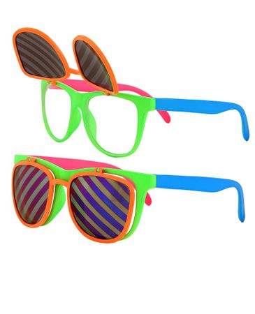 80's Neon Flip Up Sunglasses