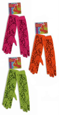 80's Neon Lace Gloves