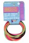 80's Multi-Color Neon Bracelets - 12-Pack