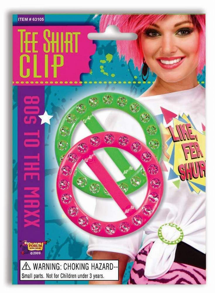 80's Neon T-shirt Clips - Candy Apple Costumes