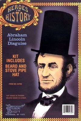 Abraham Lincoln Beard and Hat Kit