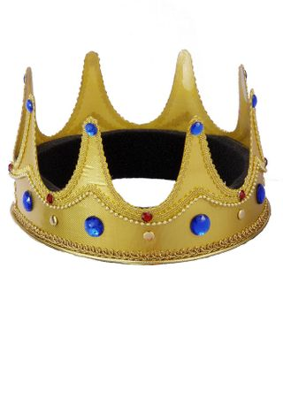 Adjustable Gold Jeweled King Crown