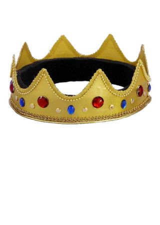 Gold Jeweled Queen Crown