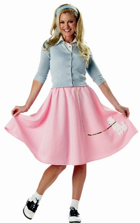 Adult 50's Pink Poodle Skirt