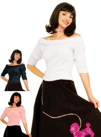 Adult 50's Sock Hop Top - More Colors