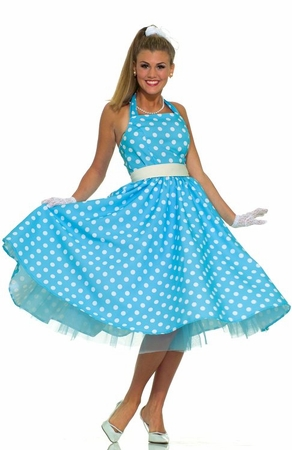 Adult 50's Summer Daze Costume, Size M/L