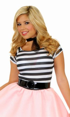 Adult 50s Striped Top