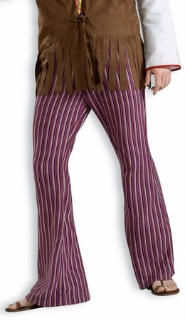 Adult 70's Striped Bell Bottom Pants, Size M/L