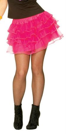 Adult 80's Hot Pink Pettiskirt