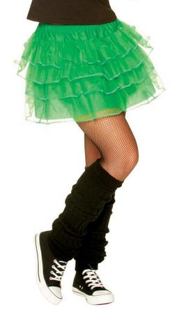 Adult 80's Neon Green Pettiskirt