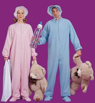 Adult Baby Jammies Costume - Pink or Blue